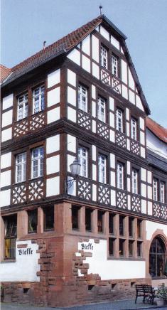Aussenansicht Gasthof und Hotel Bleffe in Büdingen